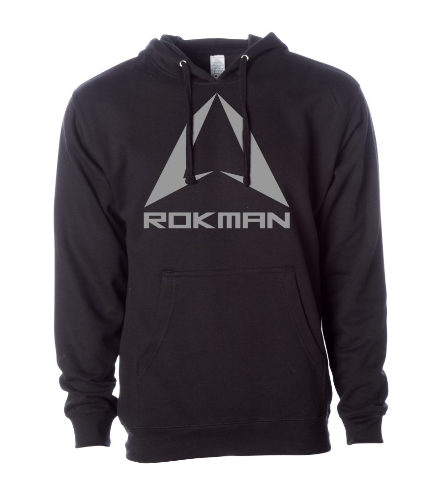ROKMAN BLACK AND GRAY HOODIE