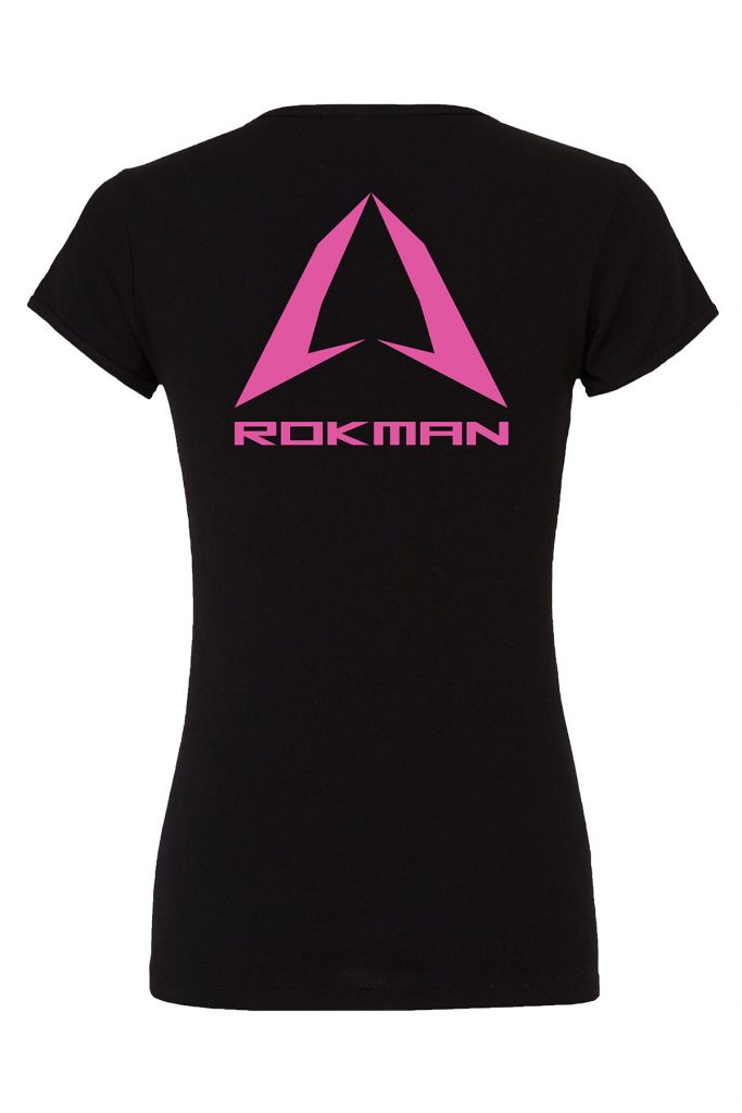 Rokman Womens Black Pink Shirt