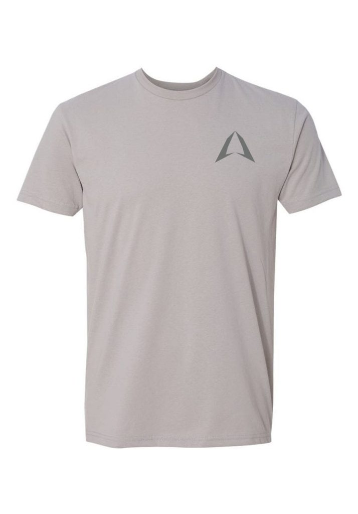 men's ROKMAN Light Gray Short Sleeve